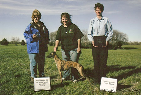 Chai winning 1st place in her flight at the AWC National in Kansas, 2007